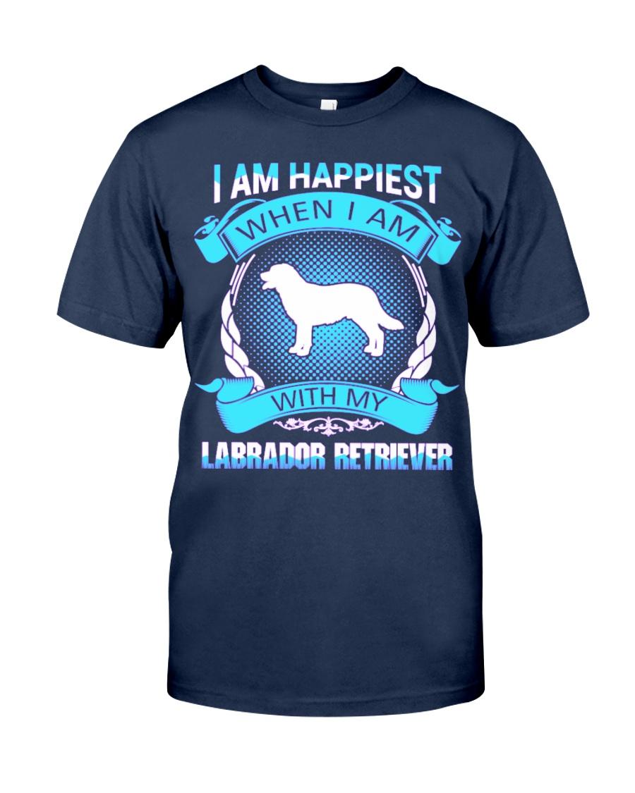 Iam happiest when i am with my Labrador Retriever Classic T-Shirt