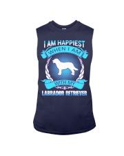 Iam happiest when i am with my Labrador Retriever Sleeveless Tee thumbnail