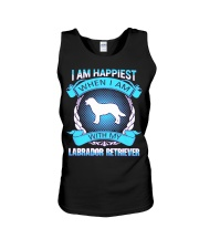 Iam happiest when i am with my Labrador Retriever Unisex Tank thumbnail