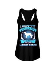 Iam happiest when i am with my Labrador Retriever Ladies Flowy Tank thumbnail