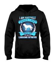 Iam happiest when i am with my Labrador Retriever Hooded Sweatshirt thumbnail