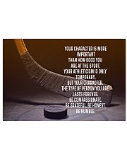 Your character is more important - hockey poster 17x11 Poster front