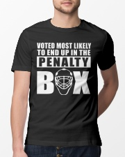 voted most likely to end up in the penalty box Classic T-Shirt lifestyle-mens-crewneck-front-13