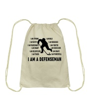 i am a defenseman Drawstring Bag thumbnail