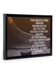 your character is more important 14x11 Black Floating Framed Canvas Prints thumbnail