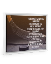 your character is more important 14x11 White Floating Framed Canvas Prints thumbnail