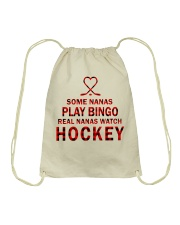 Real nanas  watch hockey Drawstring Bag thumbnail