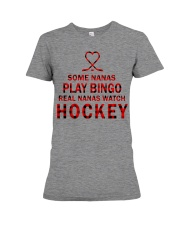 Real nanas  watch hockey Premium Fit Ladies Tee thumbnail