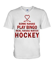 Real nanas  watch hockey V-Neck T-Shirt thumbnail