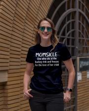 Hockey momsicle Ladies T-Shirt lifestyle-women-crewneck-front-2
