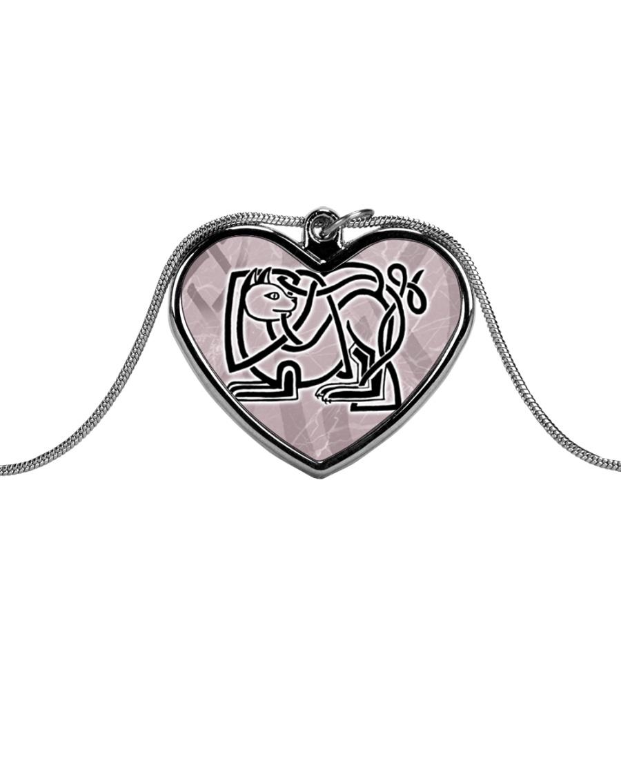 Callum's Alley Celtic Cat Jewellery Metallic Heart Necklace