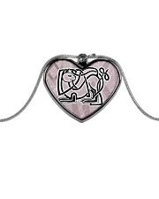 Callum's Alley Celtic Cat Jewellery Metallic Heart Necklace front