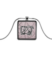 Callum's Alley Celtic Cat Jewellery Metallic Rectangle Necklace thumbnail