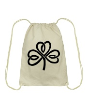 Mariah's Dream: Shamrock Black Drawstring Bag thumbnail