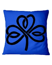 Mariah's Dream: Shamrock Black Square Pillowcase tile