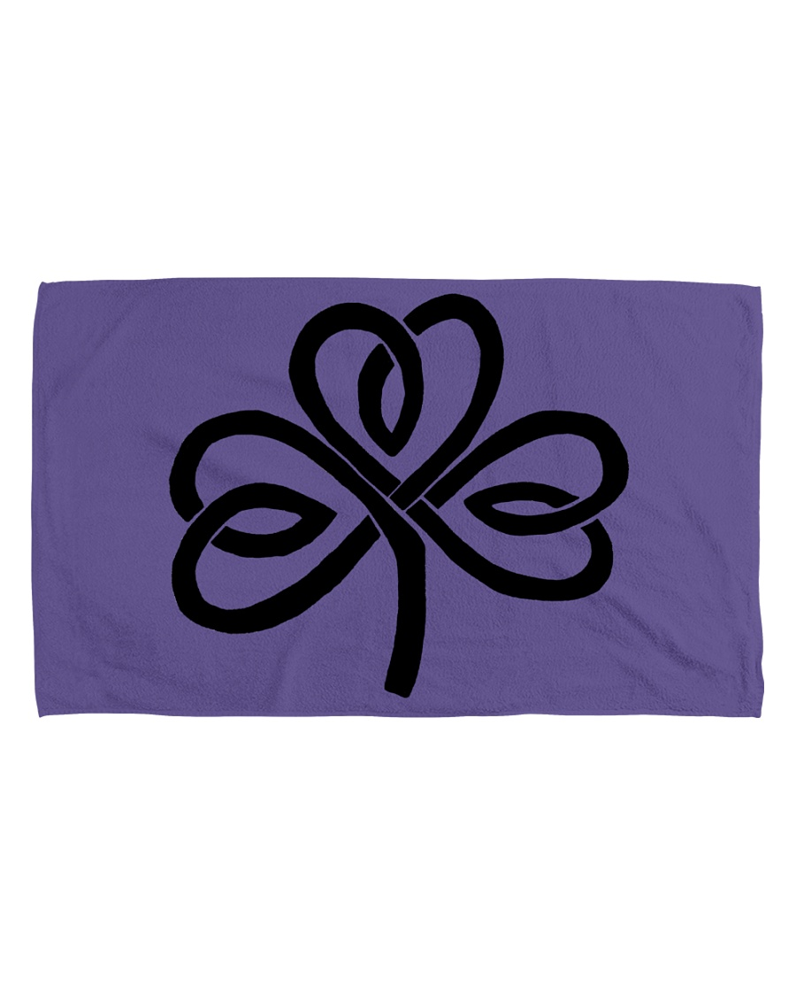 Mariah's Dream: Shamrock Black Hand Towel (horizontal)