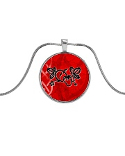 Mariah's prologues: Strawberry Dreaming jewellery Metallic Circle Necklace front
