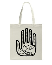 Mariah's Prologue One Man's Work Celtic Hand black Tote Bag tile