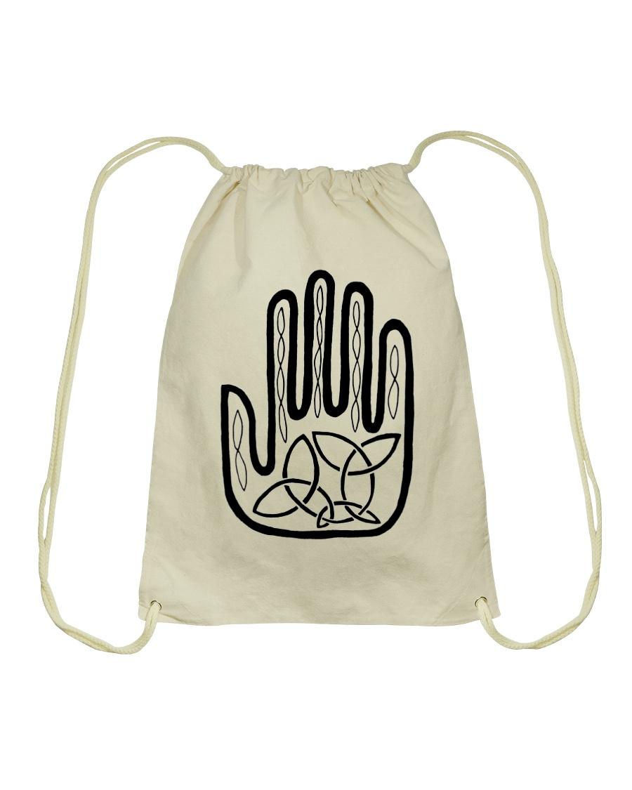 Mariah's Prologue One Man's Work Celtic Hand black Drawstring Bag