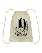 Mariah's Prologue One Man's Work Celtic Hand black Drawstring Bag front