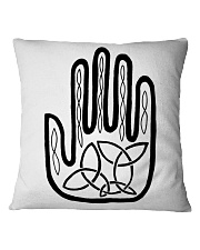 Mariah's Prologue One Man's Work Celtic Hand black Square Pillowcase thumbnail