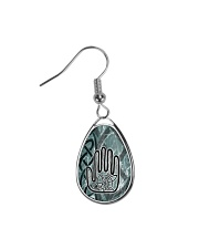 One Man's Work Celtic Hand Jewellery Teardrop Earrings tile