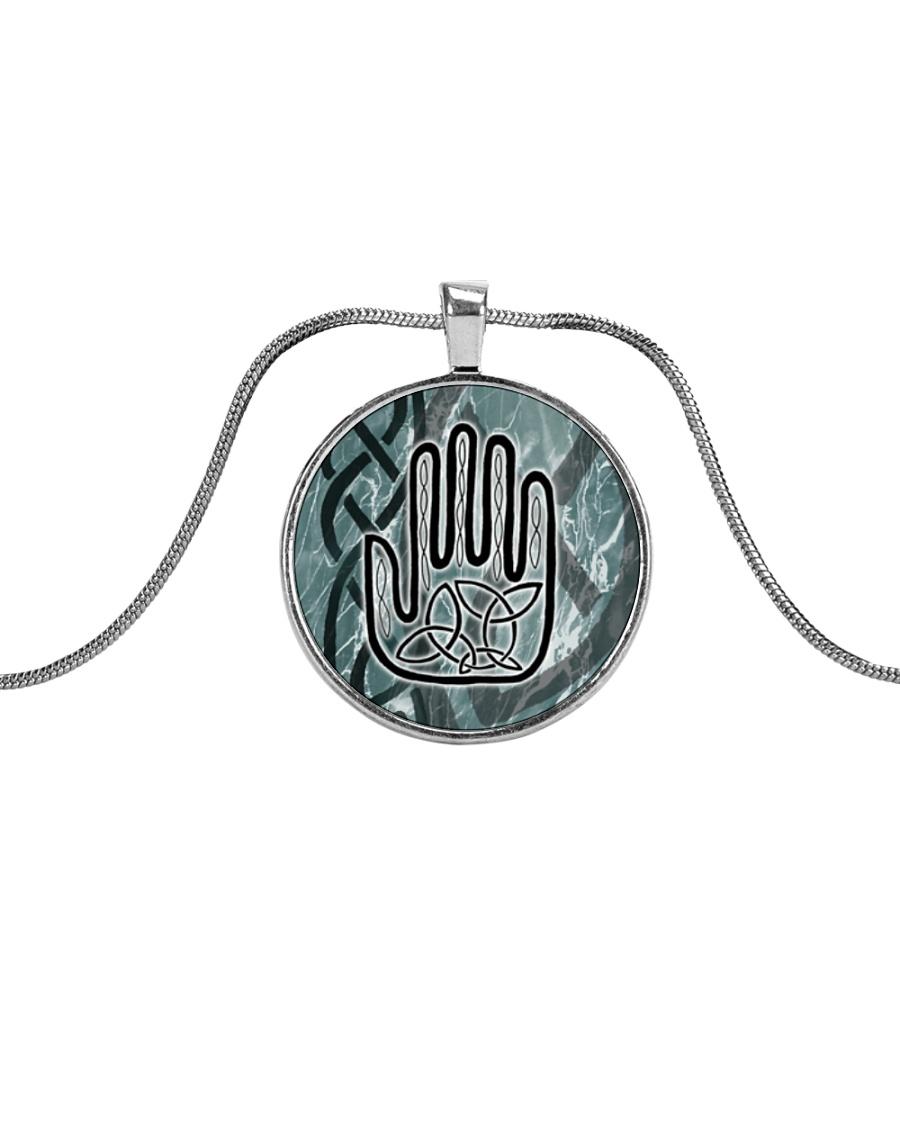 One Man's Work Celtic Hand Jewellery Metallic Circle Necklace