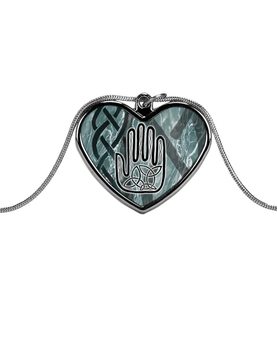 One Man's Work Celtic Hand Jewellery Metallic Heart Necklace