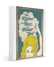 The higher the hair 11x14 Gallery Wrapped Canvas Prints front