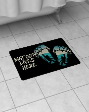 "Bigfoot lives here Bath Mat - 24"" x 17"" aos-accessory-bath-mat-24x17-lifestyle-front-07"