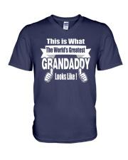 The world's Greatest Grandaddy V-Neck T-Shirt thumbnail