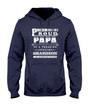 I'm a Proud Papa of a freaking Awesome Grandson Hooded Sweatshirt thumbnail