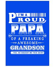 I'm a Proud Papa of a freaking Awesome Grandson 16x24 Poster thumbnail