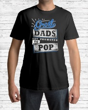 Great Dads Get Promoted to POP Classic T-Shirt lifestyle-mens-crewneck-front-1