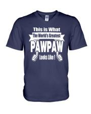 The world's Greatest Pawpaw V-Neck T-Shirt thumbnail