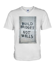 Build Bridges - Not Walls V-Neck T-Shirt thumbnail