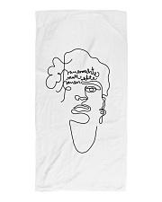 Frauenrechte statt rechte Frauen - Frida Kahlo Beach Towel thumbnail