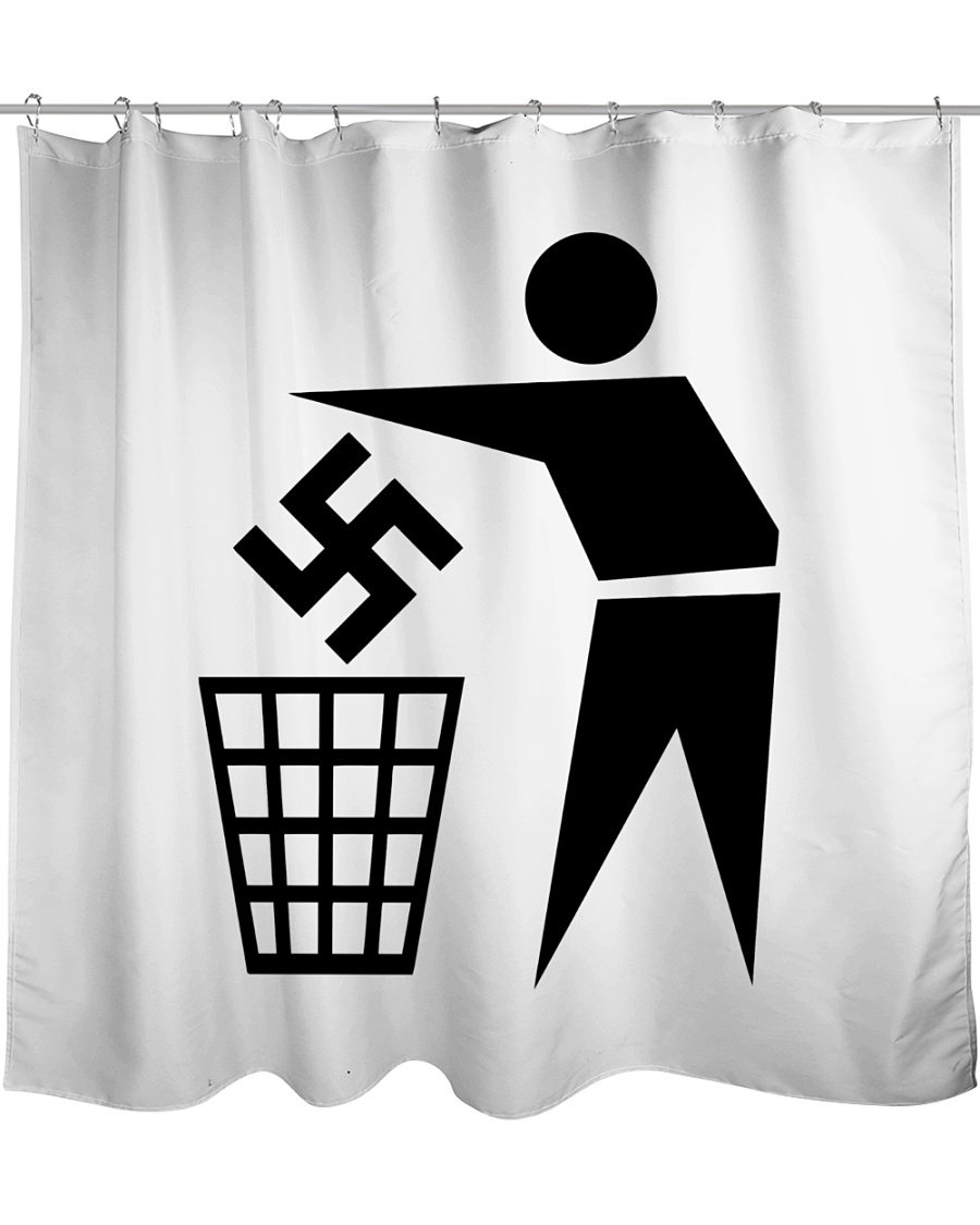 Trash Shower Curtain