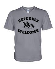 Refugees Welcome V-Neck T-Shirt thumbnail