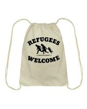Refugees Welcome Drawstring Bag thumbnail