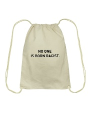 No One Is Born Racist Drawstring Bag thumbnail