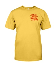 Make Racism Wrong Again - Red on Yellow Classic T-Shirt front