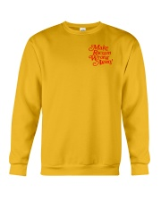 Make Racism Wrong Again - Red on Yellow Crewneck Sweatshirt thumbnail