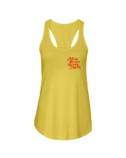 Make Racism Wrong Again - Red on Yellow Ladies Flowy Tank thumbnail