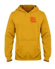 Make Racism Wrong Again - Red on Yellow Hooded Sweatshirt thumbnail