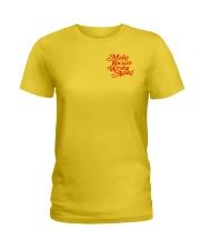 Make Racism Wrong Again - Red on Yellow Ladies T-Shirt thumbnail