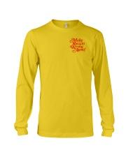 Make Racism Wrong Again - Red on Yellow Long Sleeve Tee thumbnail