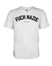 FUCK NAZIS - Worldwide V-Neck T-Shirt thumbnail