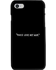 Make Love Not War - White Print Phone Case thumbnail