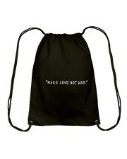 Make Love Not War - White Print Drawstring Bag thumbnail